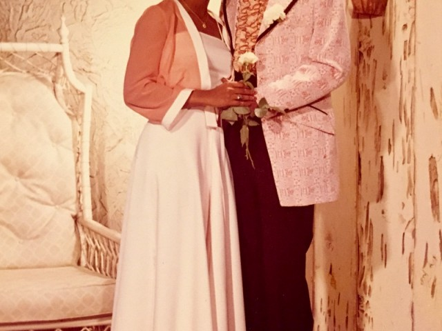 Senior Prom Cleveland Central Catholic 1975 with Hubbie