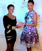 Giving my girl Vivica an award
