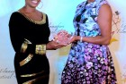 Giving my girl Vivica an award