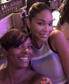 Model Chanel Iman & VBC at Essence Luncheon